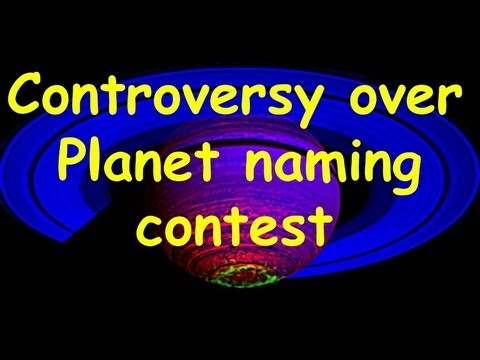 Controversy over planet naming contest