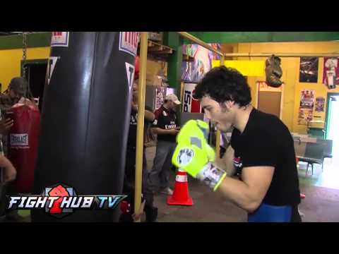 Julio Cesar Chavez Jr. vs Brian Vera 2- Chavez media workout highlights