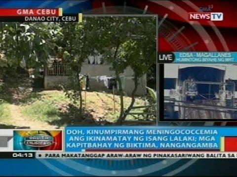 DOH, kinumpirmang meningococcemia ang ikinamatay ng isang lalaki sa Danao City, Cebu