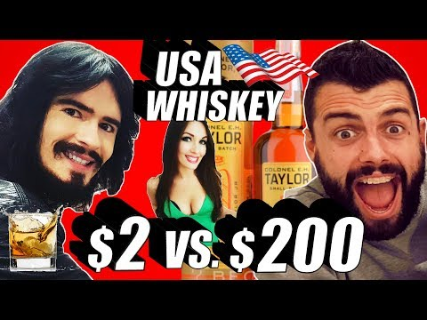 Irish People Try $2 VS $200 DOLLAR American Whiskey!! + American PRISON ALCOHOL For First Time!!