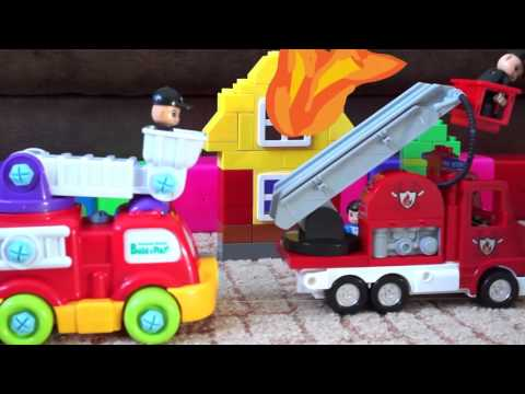 Kids Toys: Fire Rescue Team! Fire truck toys videos