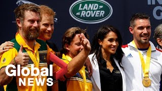 Prince Harry and Meghan Markle present medals at the Invictus Games in Australia