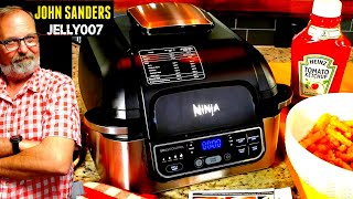NINJA FOODI PRO GRILL | AIR FRY FRENCH FRIES | 2LBS Air Fryer Fried ORE IDA GOLDEN CRINKLES