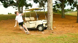 Crashing Golf Carts!
