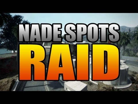 Black Ops 2 Nade Spots: Raid (Call of Duty BO2 Grenade Tips and Tricks)