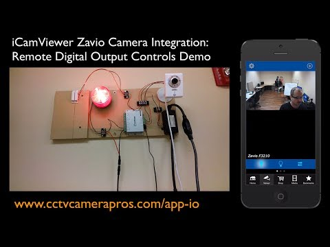 IP Camera Mobile App Digital Ouput Sensor Controls