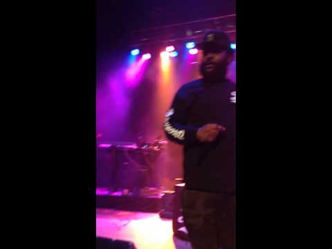 Bas (Dreamville) Fiji Water in my Iron, live at 2014 Forest hills drive tour, Providence RI.