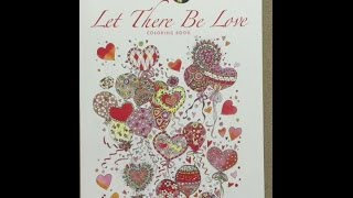 Creative Haven Let There Be Love Coloring Book Flip Through
