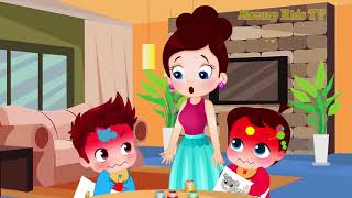 Learn Colors with Johny Johny Yes Papa Song! Popular Kids Songs by Cartoons Sun & Moon