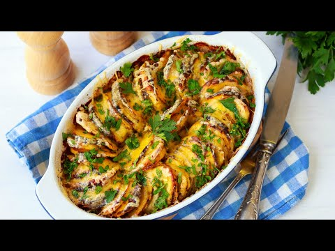 Тыква, запеченная с картошкой в духовке — видео рецепт