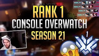 RANK 1 PLAYER on PS4 Overwatch (Season 21)