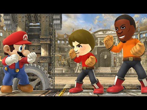 Super Smash Bros 4 Mii fighters (WII U / 3DS Gameplay) 【All HD】 Amiibo