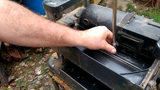 PLANER Harbor Freight blade removal and sharpening