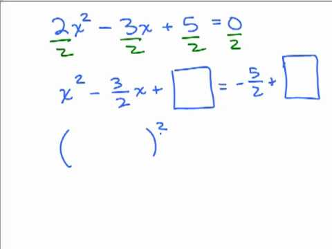 Completing the Square 5