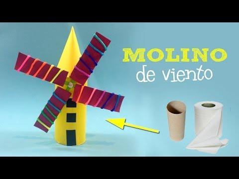 Molino de viento casero | Manualidades con reciclaje