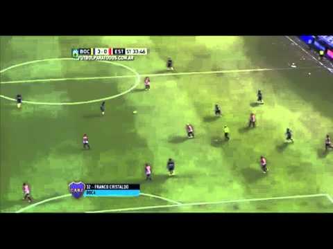 Boca Jrs 3 - Estudiantes 0 Gol Franco Cristaldo / Fecha 7 Torneo Julio H. Grondona 2015