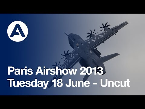 Paris Air Show 2013 - Tuesday 18 June, Airbus A380 and A400M Flying demos - uncut version