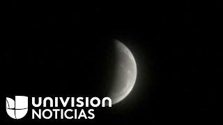 EN VIVO: así se ve el eclipse total de luna