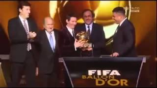 FIFA Ballon d'Or 2011 Lionel Messi ميسي جائزة الفيفا الكرة الذهبية   YouTube