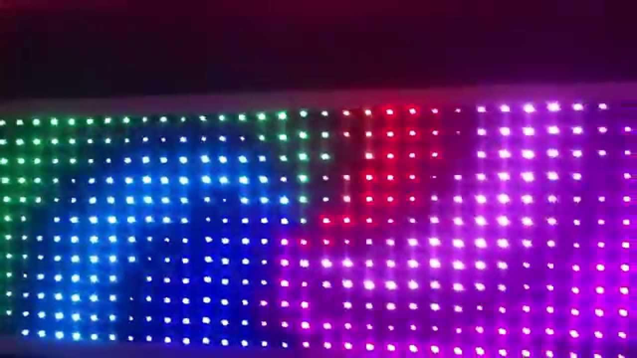 Экран из светодиодных лент своими руками 33