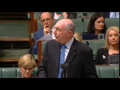 150618 Warren Truss in Question time on the North Aust Plan