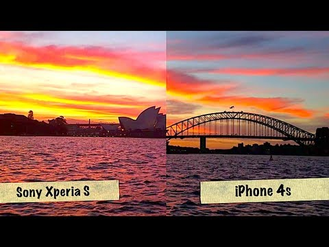 Sony Xperia S Vs iPhone 4S - Sunset timelapse shootout.