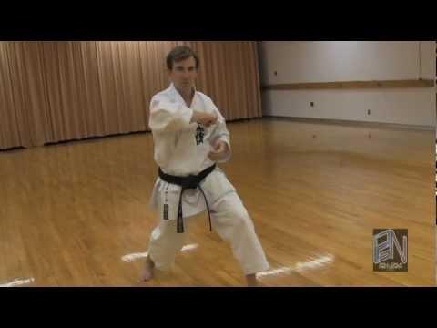 Shotokan Karate Heian Yondan Kata Demonstration On Paulgalenetwork video