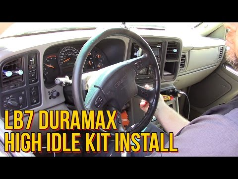 LB7 Duramax High Idle Kit Install