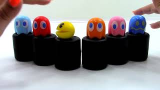Pac-Man Mash'ems Series 1 Blind Bags Complete Set 6 Squishies Unboxing Toy Review By Thetoyreviewer