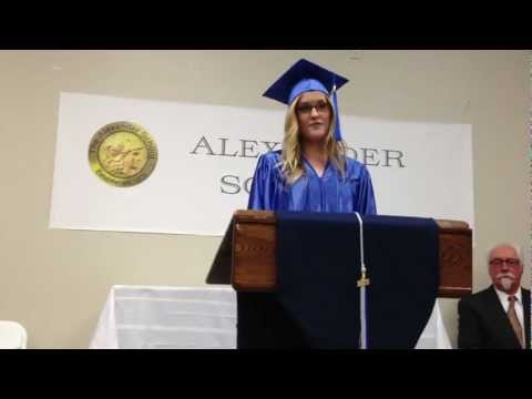 Cassidy's Salutatorian speech at her graduation from The Alexander School 5.24.12
