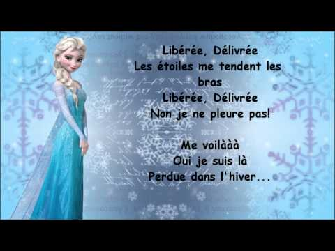 la reine des neiges liber e d livr e paroles youtube. Black Bedroom Furniture Sets. Home Design Ideas
