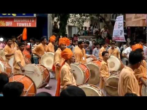 Dhol Pathak Pune | Pune Ganesh Visarjan Miravnuk 2012 | Tulshibaug...
