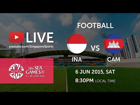 Football Indonesia vs Cambodia (Jalan Besar stadium) | 28th SEA Games Singapore 2015