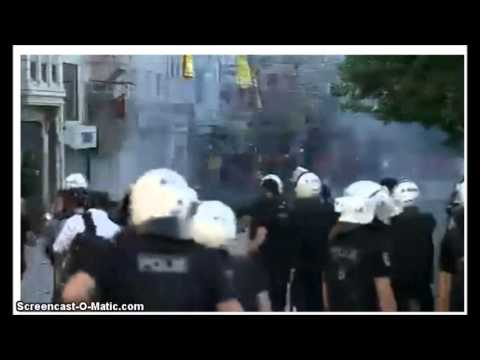 Protest TURKEY TAKSIM SQUARE CLASHES, Anti government, Live Part 3 May 31 2013