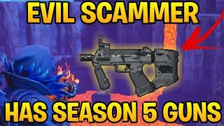 Evil Kid Loses Season 5 Guns! (Scammer Gets Scammed) Fortnite Save The World