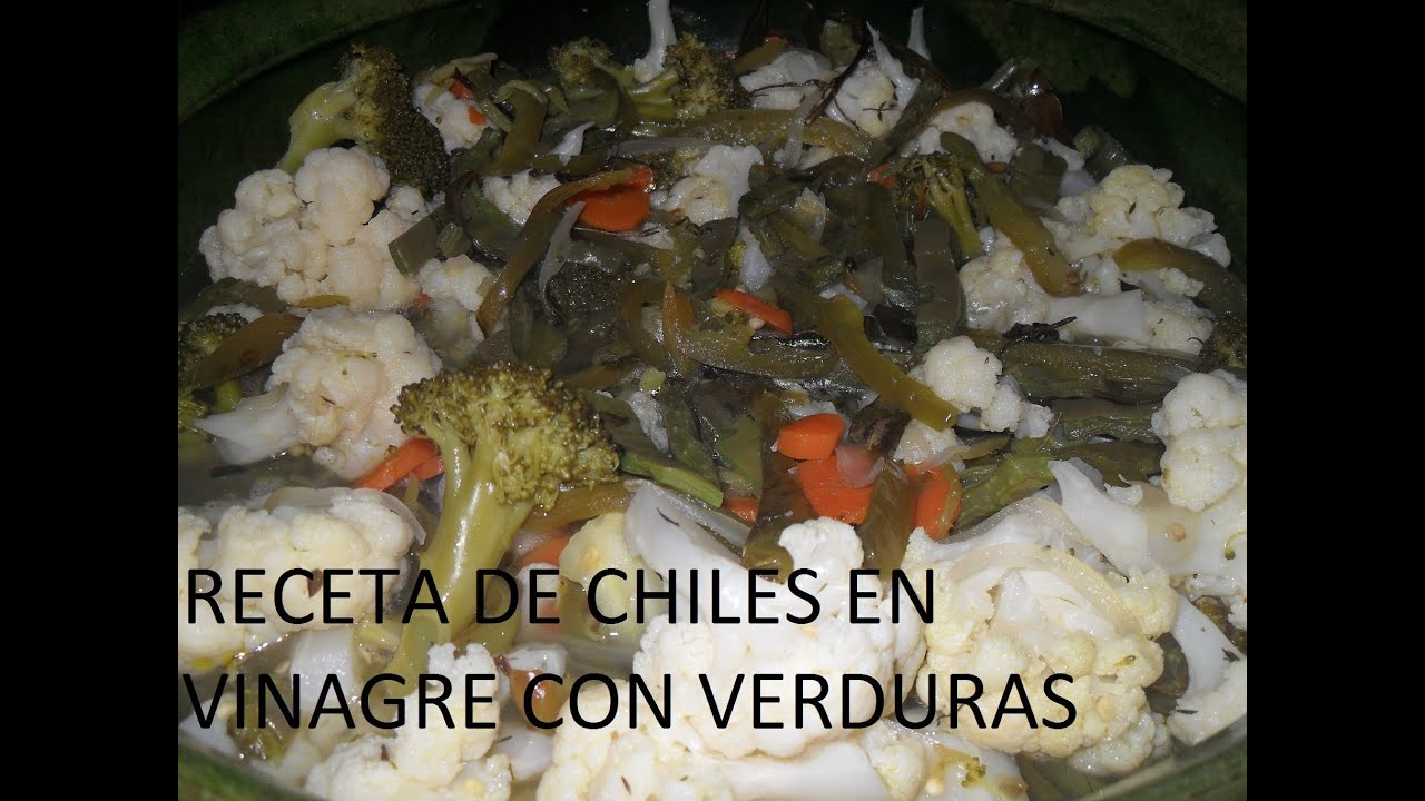 Chiles en Vinagre Caseros Receta de Chiles en Vinagre