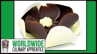 Easy Chocolate Flower - 3 Steps Chocolate Garnishes - Romantic Plating - Cake Decoration