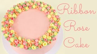 Ribbon Rose Buttercream Cake - COLLAB HANIELA