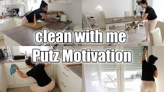 Clean with me | Putz Motivation | Wohnküche  | Filiz