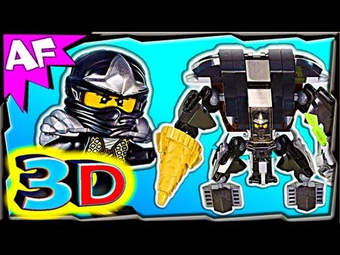 3D COLE's EARTH MECH - Custom Lego Ninjago 70505 Animated Review