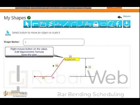 Creating shapes in Rebar Web
