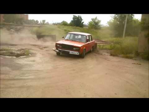 Боевая классика  Дрифтит  буксует валит боком  НА ВАЗ 2107