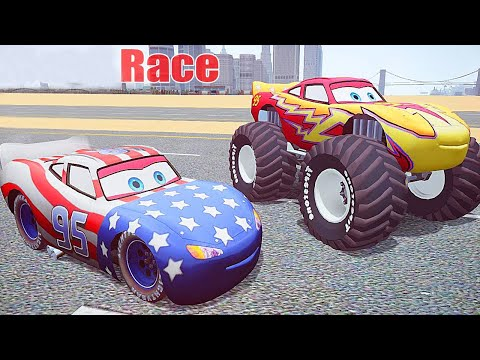 Grand Theft Auto IV - Dead Race With LIGHTNING MCQUEEN Patriot [MOD] for GTAIV - Part 3