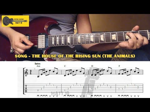 The House Of The Rising Sun (The Animals) GUITAR CHORDS and TAB - EASY GUITAR SONG