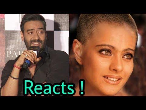 Ajay Devgan reacts on wife Kajol's latest haircut of Bald (GANJI) | Shocking .