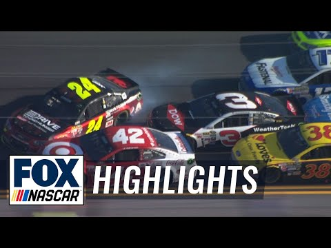Austin Dillon Wrecks Jeff Gordon on Last Lap - 2015 NASCAR Sprint Cup