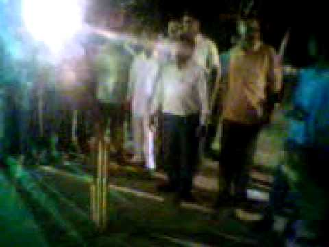 Pitch open of 1st hari om night cricket tournament