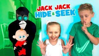 Jack Jack Hide and Seek, Screenslaver Sneaks! Incredibles 2 Family Game for Kids!