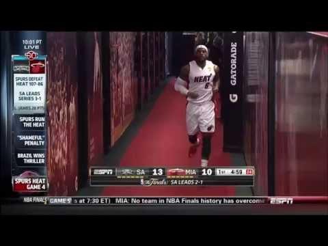 June 12, 2014 - ESPN - 2014 NBA Finals Game 04 Miami Heat Vs San Antonio Spurs - Loss (01-03)(SC)