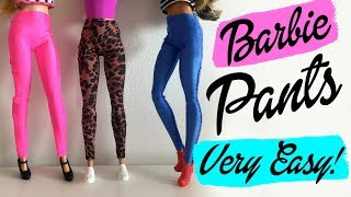 How to make a JEANS, PANTS or LEGGINGS. Very easy! Barbie Doll Clothes